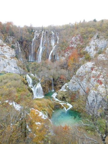 クロアチアのプリトヴィツェ湖群公園