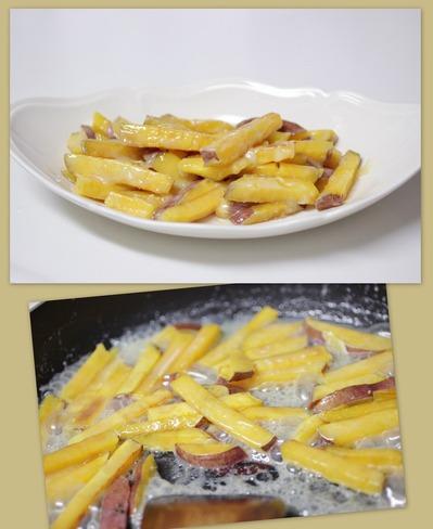 サツマイモの塩キャラメル