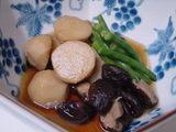 里芋、椎茸、いんげん煮