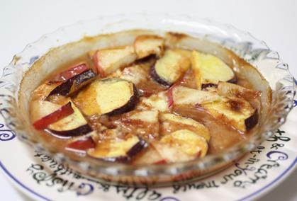 薩摩芋とりんごのグリル