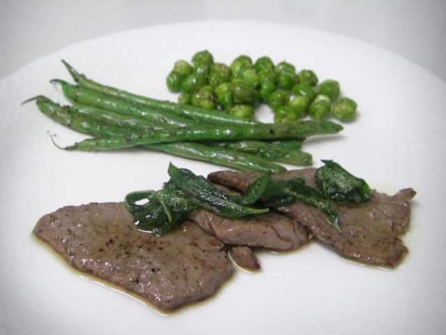 薄切り牛肉のバター・サルヴィア