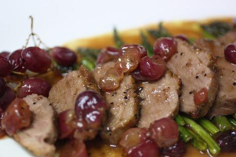 鴨の葡萄ソース