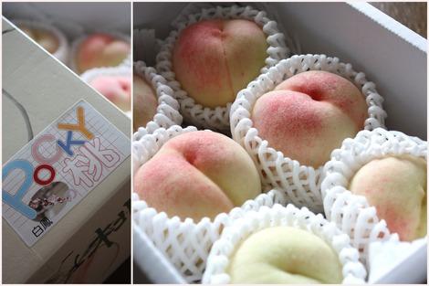 pocky印の桃