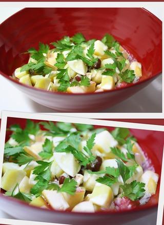 サツマイモとりんごと柿