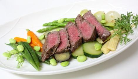 夏野菜と牛ステーキ