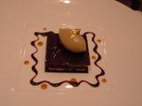 チョコラの上はトリュフのアイスクリーム