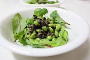 枝豆と黒オリーヴ