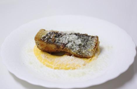 黒鯛の卵黄ソース