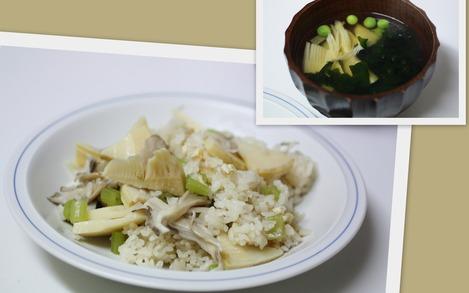 筍ご飯と若竹汁