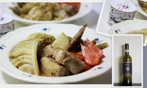 豚バラ肉と野菜の白ワイン煮