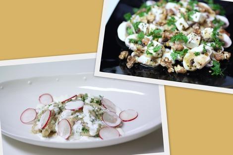 サラダ&お魚