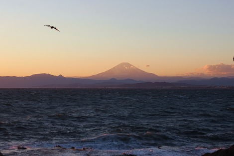 江ノ島からの富士山