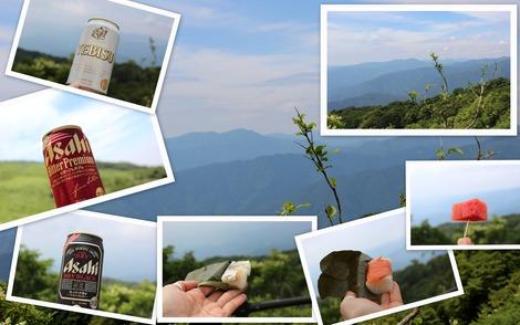 山の上で乾杯