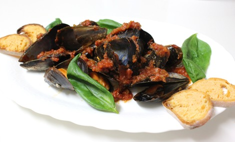 ムール貝のトマト・ソース