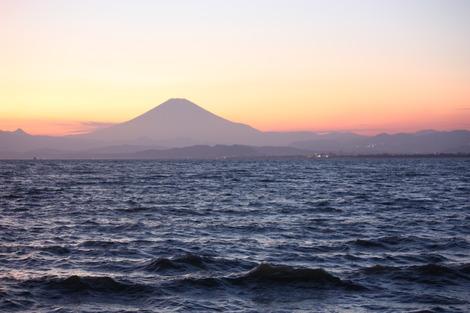 江の島からの富士