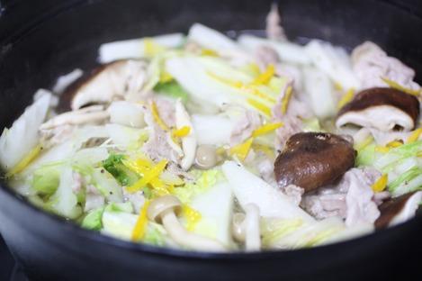 白菜と豚バラ肉のお鍋