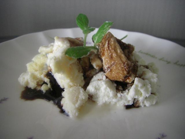 リコッタ・チーズとアイスクリーム