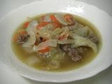 ミンチとキャベツのスープ