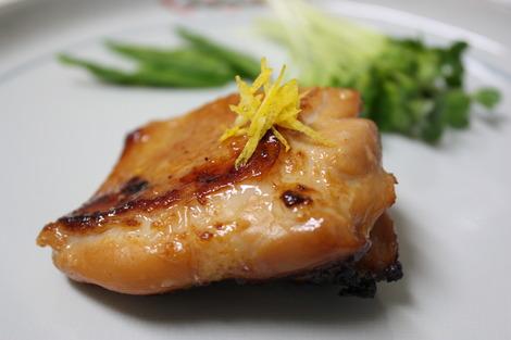 鶏もも肉の柚子味噌漬け