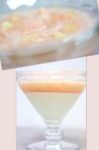桃のスープのデザート