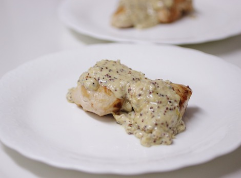 鶏むね肉の粒マスタード・ソース