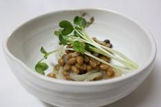 いかと椎茸と納豆