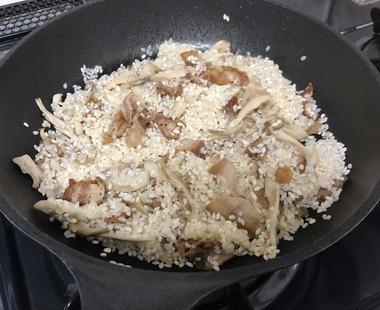 豚バラと舞茸のご飯