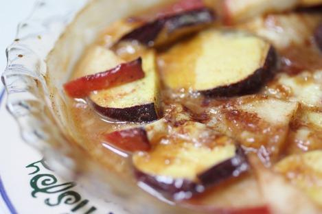 薩摩芋とリンゴのグリル