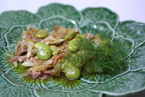 空豆と生ハム