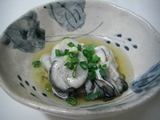 生牡蠣のゆず醤油