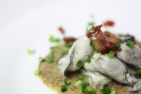 牡蠣のマスタード・ソース