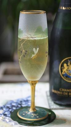 ガレ風シャンパーニュ・グラス
