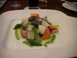 炙りホタテと温野菜