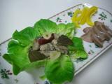 牡蠣のオイル漬けとスモークド・レヴァー