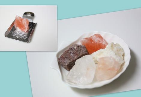 5色の岩塩