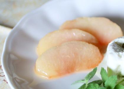 桃のキャラメリゼ