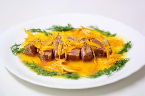 鴨のキャラメル・オレンジソース