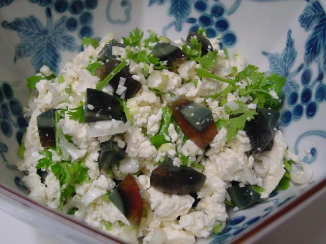 お豆腐とピータン