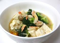 お豆腐とブロッコリの蟹あんかけ