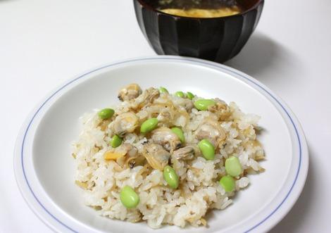 生姜とあさりのご飯