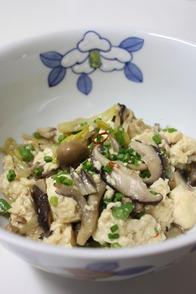 きのことお豆腐のオイスター・ソース煮