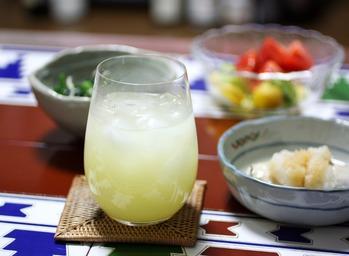 焼酎の柚子酢割