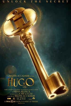 マーティン・スコッセッシ監督の3D冒険ファンタジー映画『ヒューゴ』の海外版ポスター