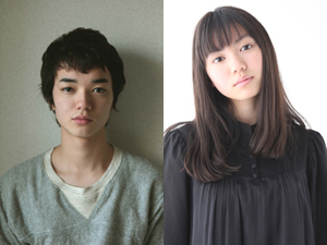 青春映画『ヒミズ』主演の染谷将太(左)と二階堂ふみ