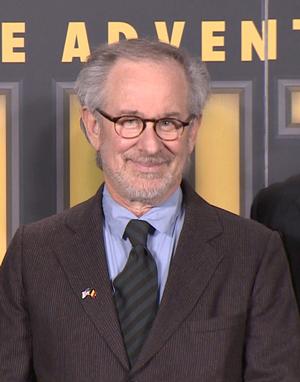 スティーヴン・スピルバーグ監督、ブリュッセルにて。映画『タンタンの冒険/ユニコーン号の秘密』