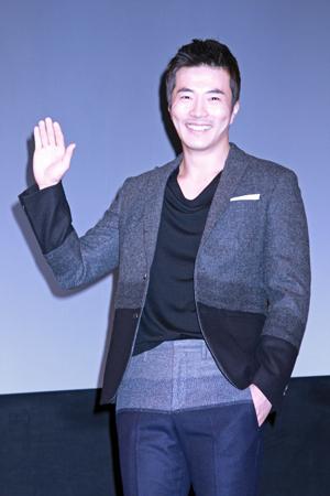 クォン・サンウ、映画『痛み』ジャパンプレミアにて。撮影:南