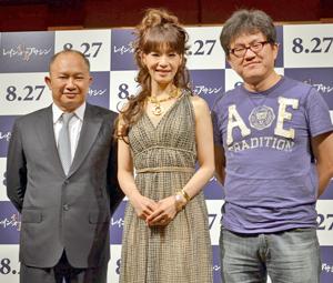 ジョン・ウー監督(左)、ゲストの大地真央(中央)、スー・チャオピン監督