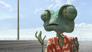 カメレオン俳優ジョニー・デップがカメレオン役!映画『ランゴ』より。c2010 Paramount Pictures. All Rights Reserved.