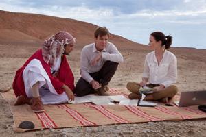 中東の砂漠で魚釣りプロジェクト始動!