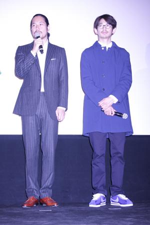 松山ケンイチと瑛太が初共演作を語った/映画『僕達急行 A列車で行こう』舞台あいさつにて